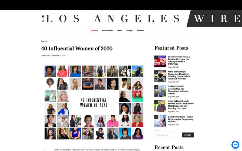 Los Angeles Wire - 40 Influential Women