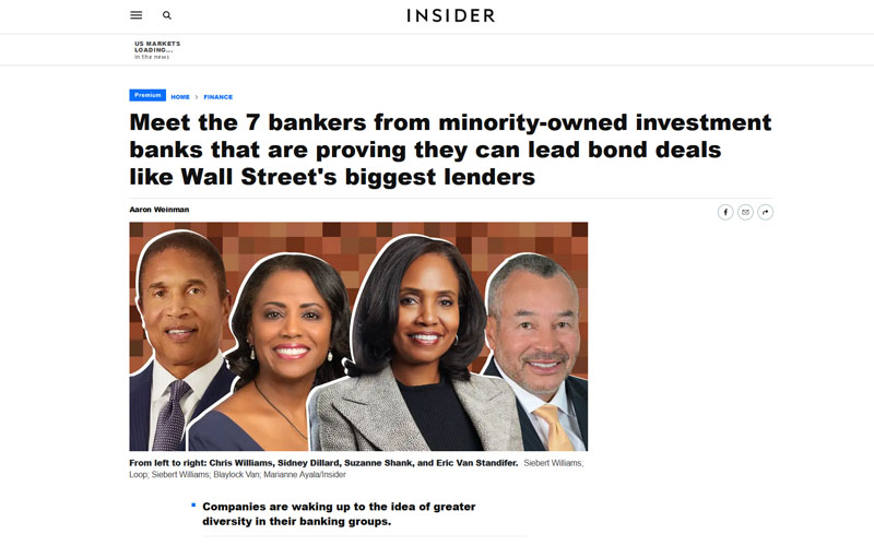 Insider - Meet the 7 bankers from minority-owned investment banks that are proving they can lead bond deals like Wall Street's biggest lenders
