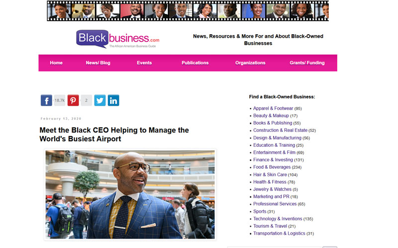 Black Business - Meeth the Black CEO Helping to Manage the World's Businest Airport